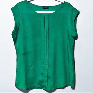Silk Blouse - Kelly Green - Relaxed Fit